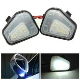 Pair 18 LED White Under Side Mirror Puddle Lights For VW Passat