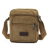 Mannen Casual Retro Canvas Schoudertassen Multi Pocket Crossbody Bags
