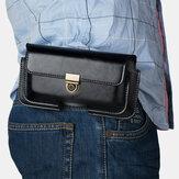 İş Rahat Çok Pozisyonlu PU Deri Cep Telefonu Para Yürüyüş Spor Erkek Telefonu Çanta Kemer Bel Çanta Yan Çanta Paketi