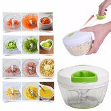 Manual Pull Rope Food Vegetable Blender Meat Chopper Hand Held Pulling Slicer Mincer