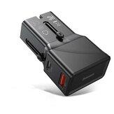 Baseus 18W Универсальное зарядное устройство Преобразование зарядного устройства 2-портовый PPS PD 3.0 QC 3.0 Быстрое зарядное устройство USB-C USB-заряд