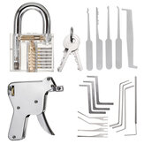 Unlocking Locksmith Practice Lock Picks Key Extractor Padlock Lockpick Tool Kits