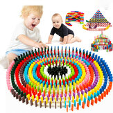 240 pcs Wooden Domino Multicolor Intelligence Development Early Education Puzzle Toys Creative Gifts for Childrens