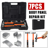 7PCS Black Car Dent Repair/Removal Hammer Set with Portable Tool Box