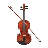 16 Inch Natural Acoustic Viola Solid Wood with Storage Case Bow Rosin Gift Violin Instrument For Beginner Musical Lover