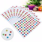 880 Star Sticker School Children Kid Teacher Label Reward Gold Silver Bronze