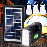 Sistema gerador solar portátil luz de emergência para acampamento ao ar livre 3 PCS lâmpada