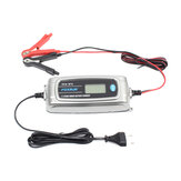 FOXSUR 12V 4A 6V 1A 11-Stage LCD Display Battery Charger For Car Motorcycle Lead-Acid EFB GEL WET AGM Batteries