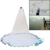 Nylon 3.6m/10ft Fishing Cast Net American Style Throwing Trap Fishing Net With Sinker