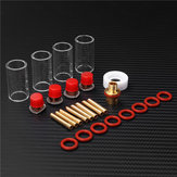 26pcs TIG Welding Torch Kit Stubby Gas Lens Glass Nozzle Cup Set For WP-9/20/25 Series