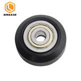 SIMAX3D® 4Pcs Plastic CNC Openbuilds Wheel with Bearing Idler Pulley Gear Perlin Wheel for 3D Printer