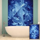 Estores pag pintura rolo fundo cego decoração da parede decoração da casa azul de cortina da janela