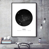 30x40cm Constellation Art Canvas Poster Geometric Astrology Painting Carta da parati