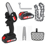 Mini Cordless Electric Chain Saw Portable Rechargeable Woodworking Cutting Tool