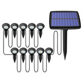 Solar Powered Dual Spot Light Outdoor Garden Landscape Spotlight Yard Lawn Lamp with 10x Spotlight