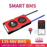 DALY BMS 13S 48V 30A 40A 60A 18650 Smart Bluetooth 485 vers périphérique USB CAN NTC UART logiciel Togther Li-on Batterie Carte de Protection
