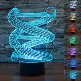 NowośćDNA3DSpiralNightLight 7 Zmiana koloru Lampa stołowa DOPROWADZIŁO Toy Gift