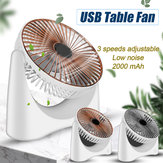 KCASA 210 Rotation Air Circulation Fan Mute Desktop Fans USB