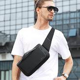 Men Multi-carry Sport Casual Business Solid Color Shoulder Bag Chest Bag