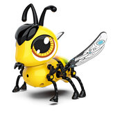 DIY Assembly Touch Sensitive Walking USB Charging Bee with Touch Sensing Lights and Sounds Toddler Toys for Kids Gift