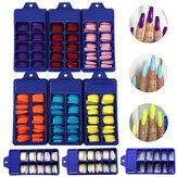 100Pcs/Set Full Cover Matte False Nail Tips Nail Art Manicure Matte Tips for False Nails Extension for False Nails