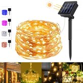 5 Colors 8 Modes 20m 200 LED Solar String Light Copper Wire Fairy Garden Lights String Outdoor Party Christmas Decorations Clearance Christmas Lights