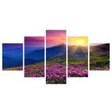 5 stuks muur decoratief schilderen Colorful zonsopgang canvas afdrukken kunst foto's frameloze muur opknoping decoraties voor thuiskantoor