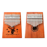 17-klawiszowy Kalimbas drewniany palec kciuk fortepian Mbira edukacja instrument muzyczny zabawka