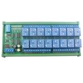 12 فولت 16 قناة DIN Rail RS485 Relay Modbus RTU Protocol التحكم عن بعد مراقبة PLC توسيع مجلس