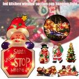 سانتا كلوز LED نافذة كأس شفط معلقة ضوء مصباح ديكور مهرجان جو عيد الميلاد