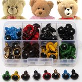 80st 12mm 8Colors Plastic Veiligheid Eyes Washers Kids Teddy Bear Doll Dierentuin Handmade Craft Tool