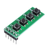 3 stuks TB371 4 Key MCU Toetsenbord Button Board Compatibel UNO MEGA2560 Pro Mini Nano Due for Raspberry Pi Teensy ++ Geekcreit voor Arduino - producten die werken met officieel voor Arduino boards