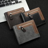 Men with Multi-Card Slot Business Foldable Large Capacity PU Leather Retro Card Holder Coin Wallet