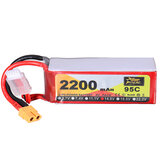 ZOP Power 14.8V 2200mAh 95C 4S Lipo Batterie XT60 Stecker für RC Racing Drone