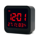 Loskii HC-20 Digital High Accuracy Thermometer Hygrometer Alarm Clock with LCD Screen Display
