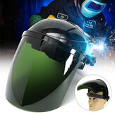 Pro Solar Powered Auto Lasfilters Helm Arc Grinding Mask Green