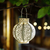 LED Solar Energy Courtyard Outdoor Bedroom Hallow Out Lantern Hanging Tree Lamp Night Light