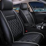 7PCS PU Leather Coche Funda de cojín de asiento Protector Set para 5 Asiento Coches Negro Blanco Universal