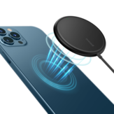 Baseus 15W Mini Magnetic Wireless Charger with Type-C Cable Wireless Charging Pad Fast Charging For iPhone 12 12 Pro Max 12Mini