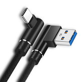 Bakeey Dual 90 Degree Angle Type C Fast Charging Data Cable 2M For Oneplus 5t 6 Mi A1 S9