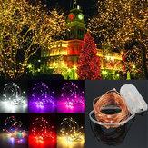 3m impermeável LED mini-bateria LED festa de fio de cobre cadeia de fadas feriado luz luz de Natal