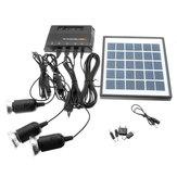 6V 4W DIY Outdoor Solar Güç Bankalı Panel + 3 * 3.7V 1W LED Lamba USB Şarjı için