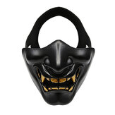 WoSporT Motorcycle Half Face Mask Goblin CS Halloween Christmas Party Outdoor Sport