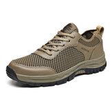 Erkekler Mesh Nefes Kaymaz Soft Outdoor Yürüyüş Ayakkabısı