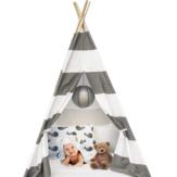 130 cm / 160 cm Çocuklar Taşınabilir Oyun Çadırları Teepee Tipi Oyun Evi Çocuk Bebek Pamuk Tuval Hint Oyun Evi Pretend Erkek & Kız Hediyeler