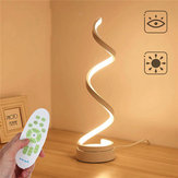 Dimmable Creative Design Curved LED Bedside Study Bedroom Desk Table Lamp Remote Control