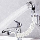 Lavado de baño Lavabo facial Grifo de agua Cabezal de ducha externo Flexible Cabello Juego de extensión de enjuague de grifo de lavado Pet Perro Clean Portable