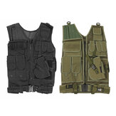 Military Tactical Vest Carrier Plate Combat Holster Police Molle Assault Vest