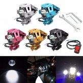 U5 Motorcycle LED Hi/Lo Light Driving Fog Spot Lightt+Switch+Spanner