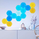 Nanoleaf Shapes 5Pack Hexagons Wifi Smart LED Light Kit DIY Night Lamp Touch Voice APP Control 16 Million Color Compatible with Homekit Alexa Google Home ( Ecological Chain Brand)